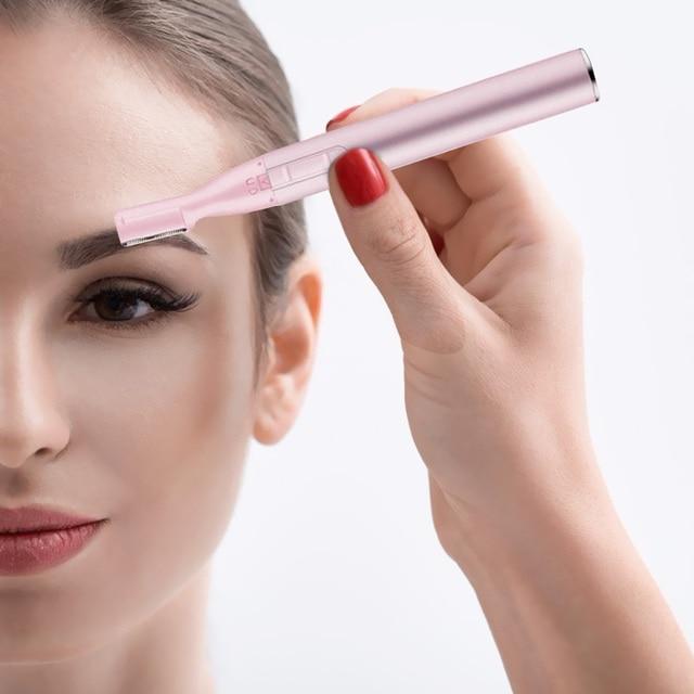 Electric Face Eyebrows Scissors Portable Armpit Leg Hair Remover Mini Trimmer Body Skin Shaver Razor Epilator 4