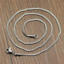 WYSIWYG 2 pièces 1.5mm longueur 45cm acier inoxydable boîte chaîne avec fermoir à homard boîte chaîne collier chaîne bijoux accessoires