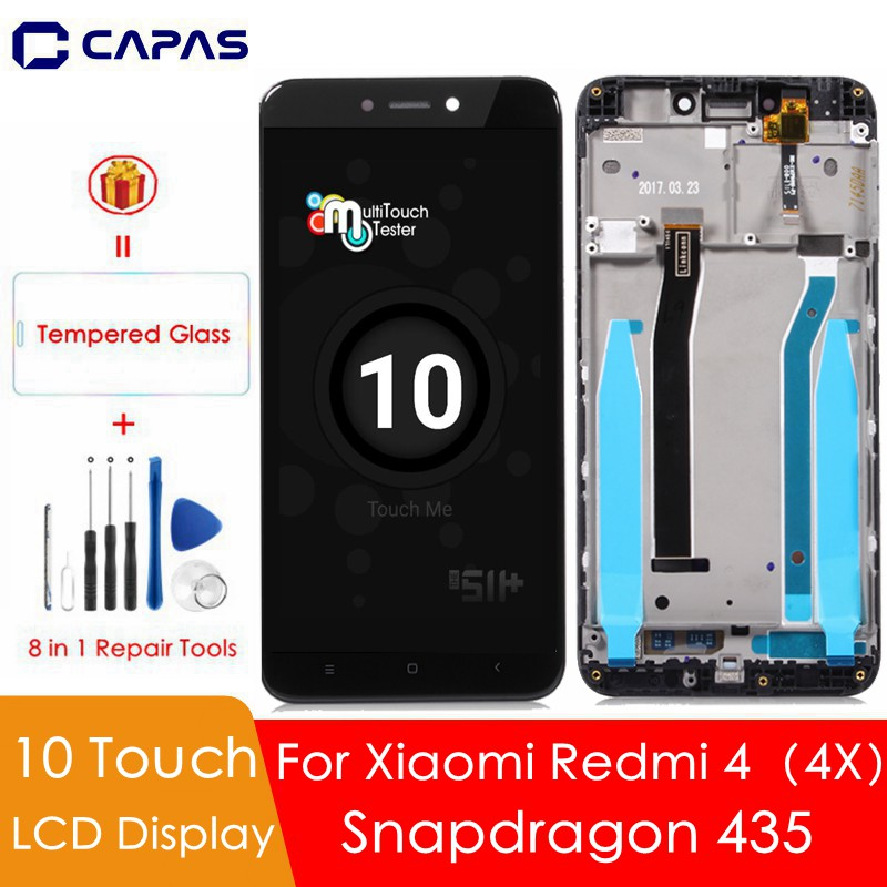 10-Point Touch For Xiaomi Redmi 4X Global LCD Display Digitizer Frame Assembly Complete Touch Screen For Redmi 4 Snapdragon 435