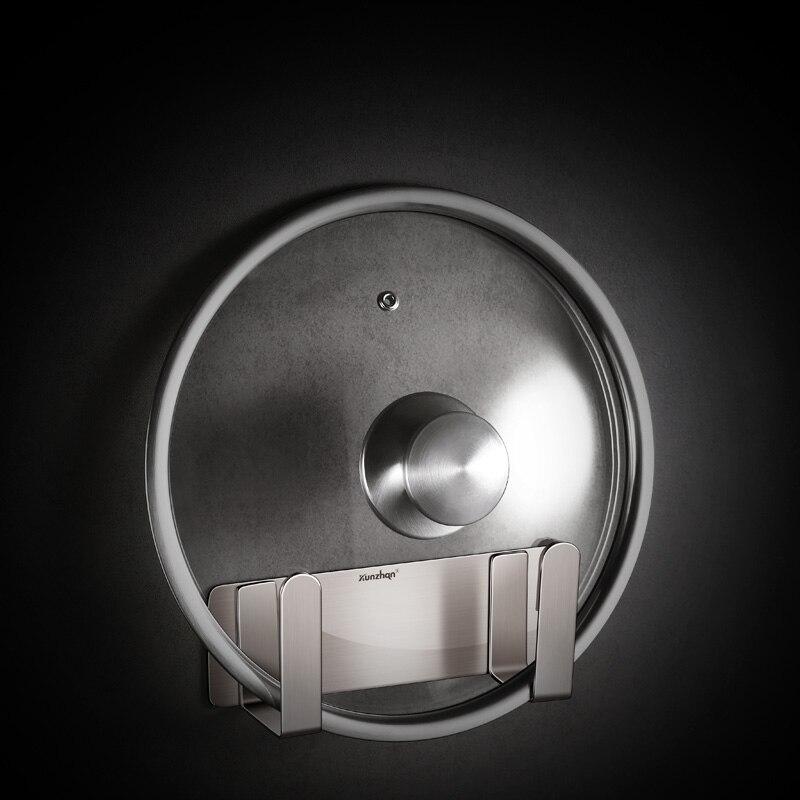 Pot Lid Rack Wall-mounted Stainless Steel Punch-free Kitchen Cutting Board Pan Storage Shelf