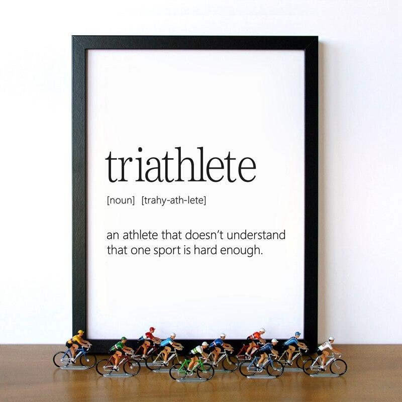 TRIATHLON ATHLETICS wall art sticker swimming running cycling transfer vinyl