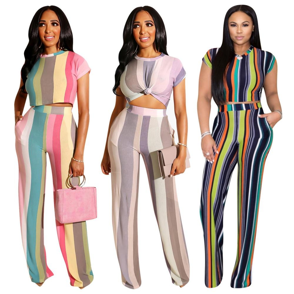 Adogirl Stripe Two Piece Set