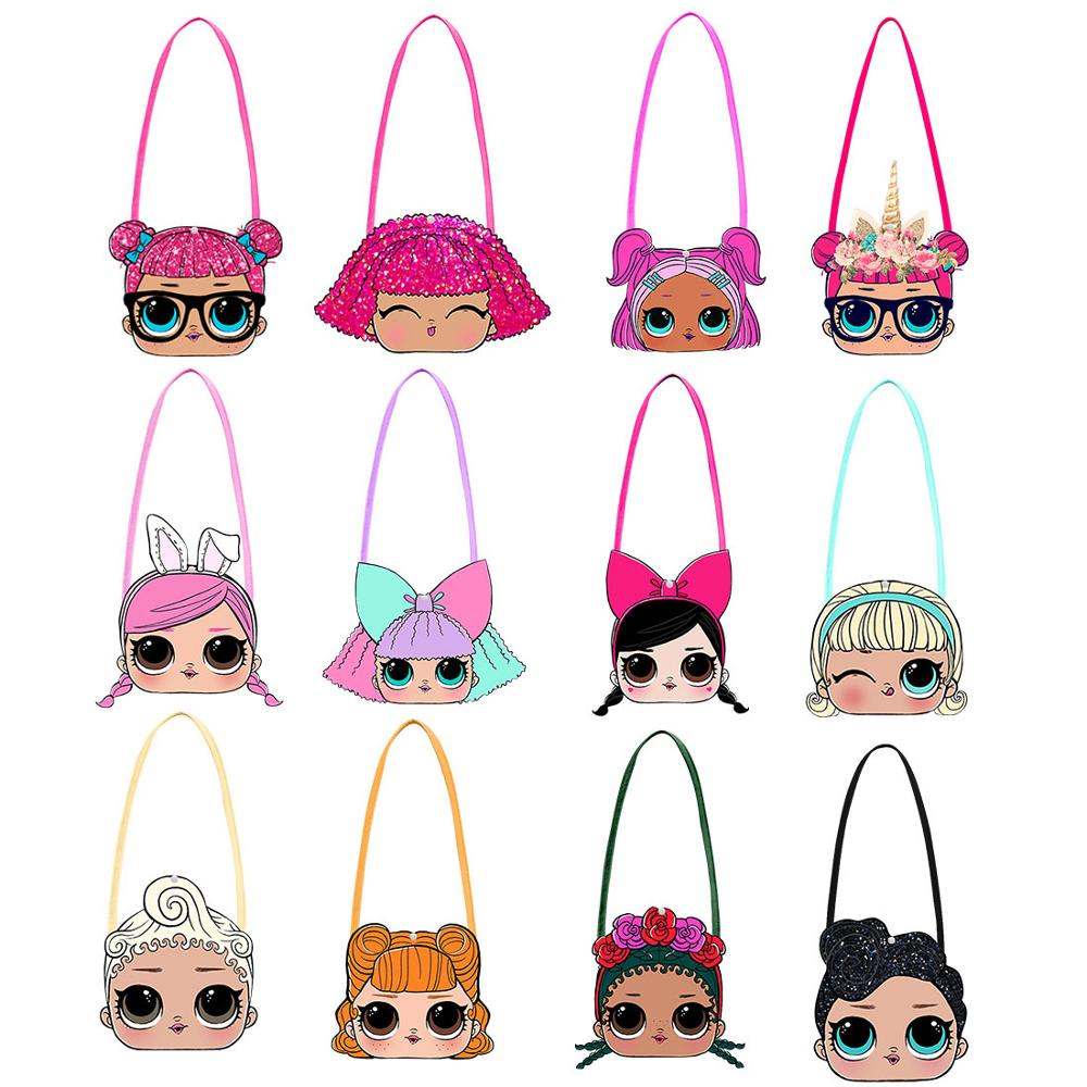 L.O.L SURPRISE! Mini Crossbody Bags Girl Shoulder Bags Cute LOL Dolls Messenger Bag 3D Cartoon Small  Wallet Wild Travel Bags