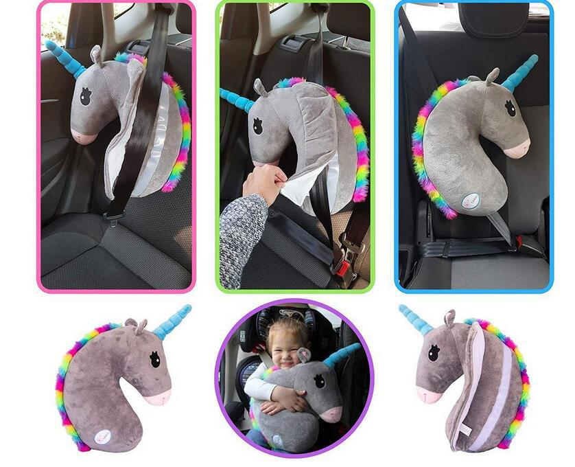 Auto Almohada para Cintur/ón de Seguridad Soporte de la Cabeza Proteja Hombro para Ni/ños Beb/és Adultos Sundell 2 Pcs Unicornio Coche Almohadillas