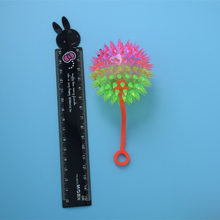 Creative Thorn Night Market Hot Selling Shining Flash with Rope Supply of Goods Ball Random Hair Small Toys <14-Year-Old Ceremon(China)