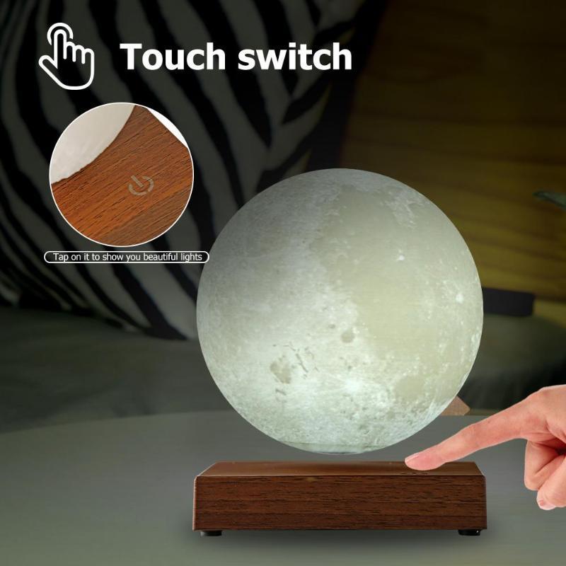 Dropship Levitazione Magnetica HA PORTATO Touch Control Luna di Notte Lampada Creativa 3D Stampa Illuminazione Decorativa di San Valentino Regalo Di Compleanno - 4