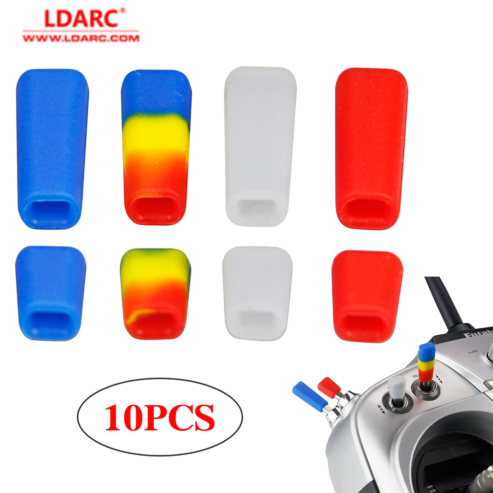 10PCS LDARC RC FPV Remote Control Switch Protection Sleeve Lever Cap Silicone Cover Mix Color For RC Transmitter Protect Jacket