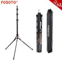 Fosoto FT 190 Gold Licht Stativ 1/4 Schraube Tasche Kopf Softbox Für Foto Studio Fotografische Beleuchtung Flash Regenschirm reflektor