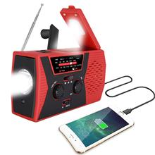 Emergency Solar Hand Crank Radio Portable AM/FM Weather Radio Outdoor Household LED Flashlight 2000mAh Power Bank USB Charger