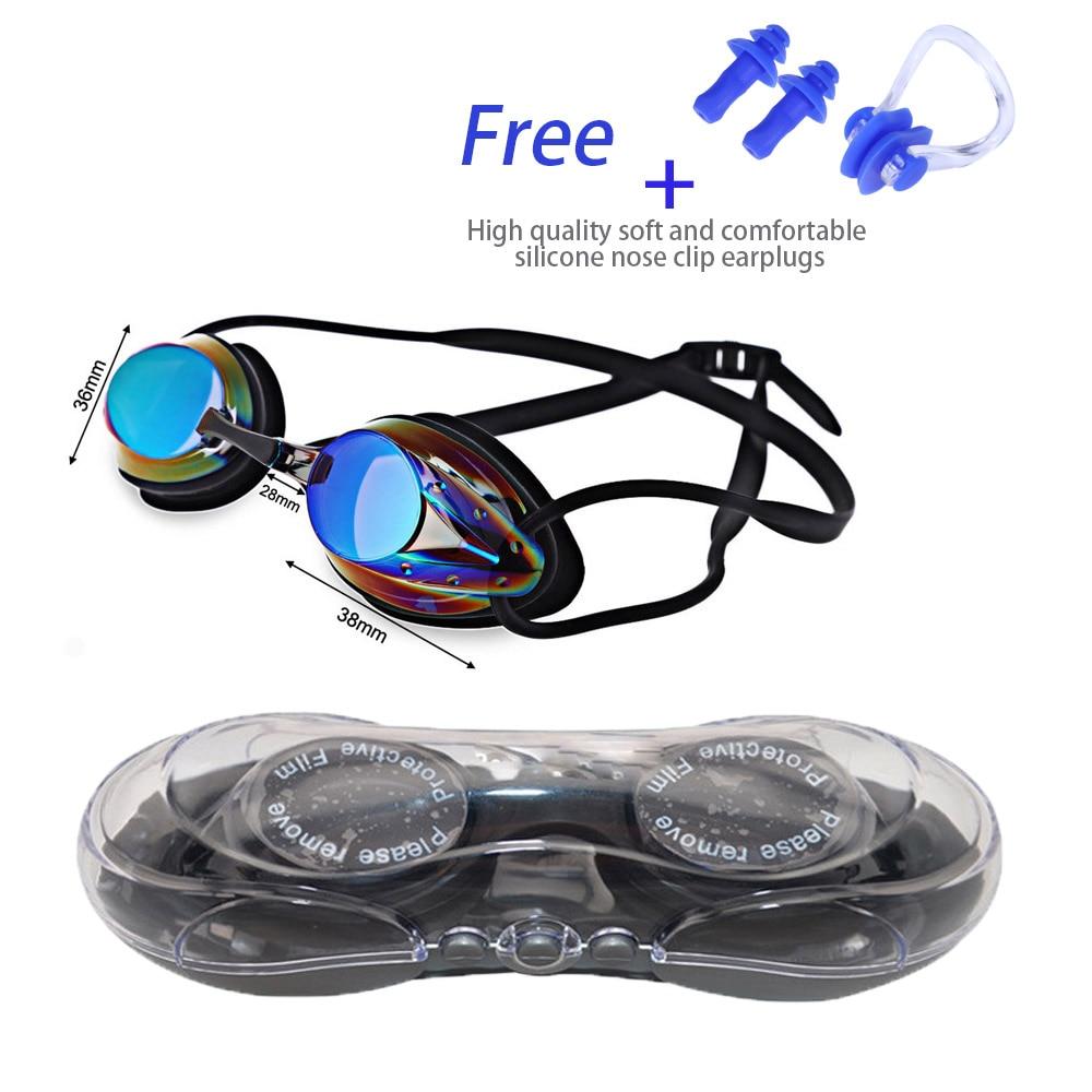 Women Swimming Glasses for Men Adjustable Electroplating Waterproof Anti fog UV Swimming Pool Goggles Professional Adult Eyewear in Swimming Eyewear from Sports Entertainment