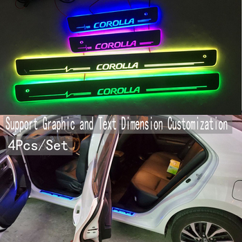 4PCS/Applicable to Corolla Streaming colour LED Lamp Doorsill Welcome Pedal/Dynamic Lighting Vehicle Threshold For ToyotaCorolla