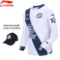 Li-Ning Männer Puebla Club Fußball Wettbewerb Long-sleeved T-Shirt BEI Regelmäßige Fit Futter li ning Sport t-shirts ATLN201 MTL1040