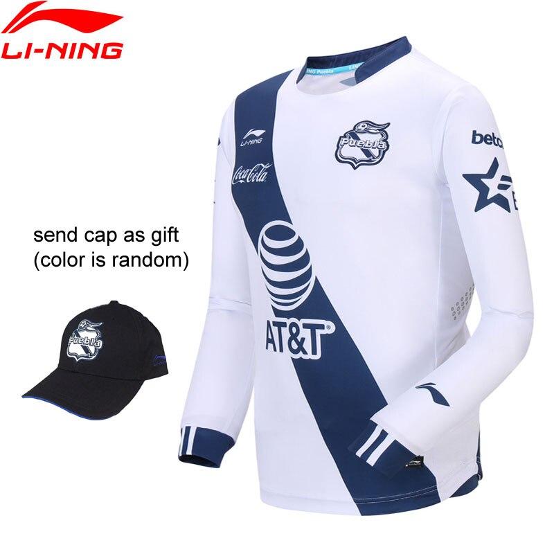 Li-Ning Men Puebla Club Soccer Competition Long-sleeved T-Shirt AT DRY Regular Fit LiNing Li Ning Sport T-shirts ATLN201 MTL1040