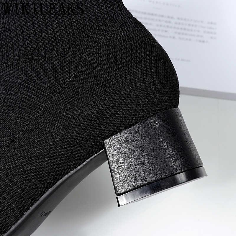 Calcetín botas de invierno zapatos de mujer sexy botas tobillo botas para mujeres botas de mujer invierno 2019 ботинки женские сапоги женские