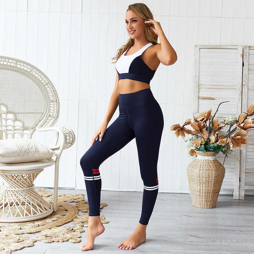 女性スポーツスーツ Constract 色ヨガセットアンサンブルセクシーなトップレギンスフィットネスランニング服ジムスポーツウェアトラックスーツ、 ZF264