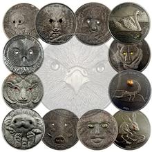 Находящихся Под Угрозой Исчезновения Диких Животных, Охраняемых Phodopus Campbelli Монгольские Жесткие Черные Глаза Тема Памятная Монета Предметы Коллекционирования