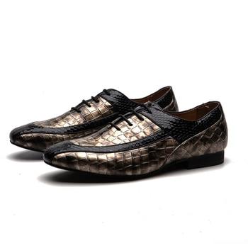 MEIJIANA  Business Dress Shoes Men's Classic Round Head Shoes Men Oxford Design Wedding Shoes