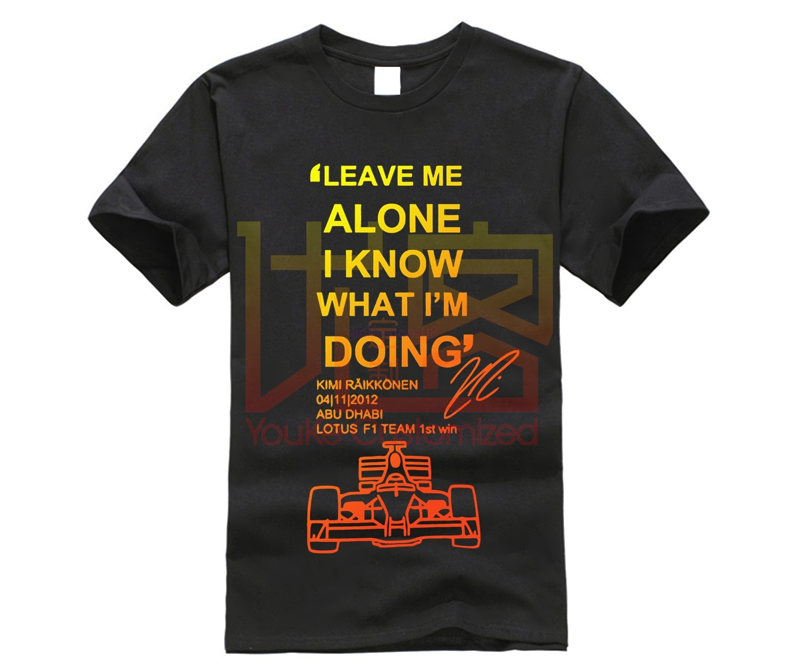 <font><b>F1</b></font> Driver KIMI RAIKKONEN <font><b>T</b></font>-<font><b>shirt</b></font> Men Leave Me Alone I Know <font><b>T</b></font> <font><b>Shirt</b></font> Streetwear Hip Hop Crossfit Brand Clothing Tshirt Man Tops image