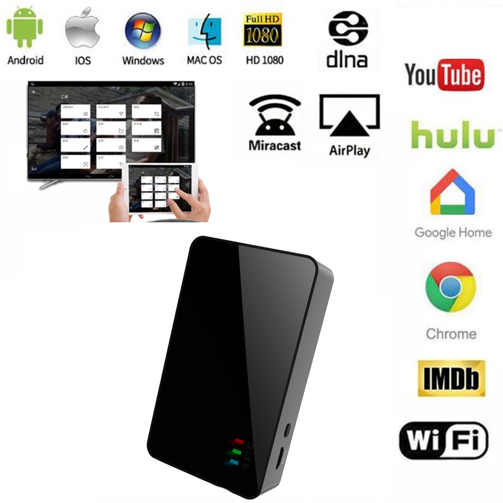 2020 5G Miracast Airplay DLNA Mirroring WiFi Display Dongle HDMI TV Receiver For IPhone Android Smartphones IPad Mac