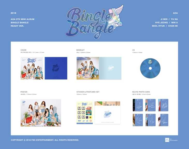 [MYKPOP] ~ 100% OFFICIËLE ORIGINELE ~ AOA MINI #5 BINGLE BANGLE Album Set CD-SA19081605