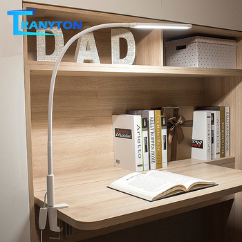 Long Arm Table Lamp Clip Office Desk Lamp 64PCS LED USB Light 3 Color x5 Dimable Level Eye Protection Adjustable Study Light