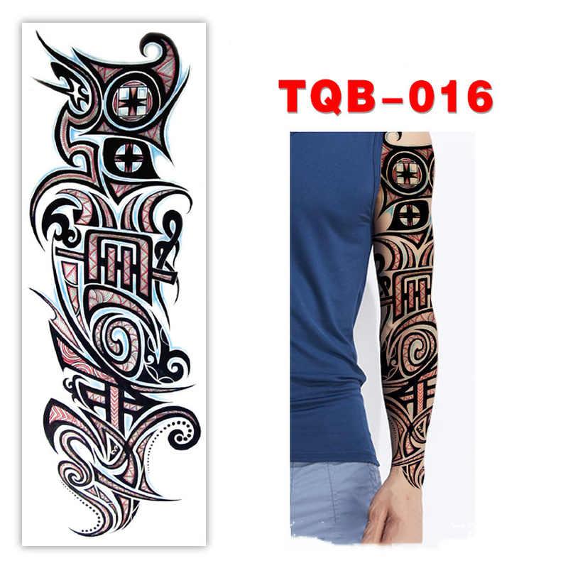 Wodoodporna tymczasowa naklejka tatuaż Tribal Totem zespół fałszywy Transfer wody Tatto osobowość Tatoo Arm Foot Tato dla kobiet mężczyzn