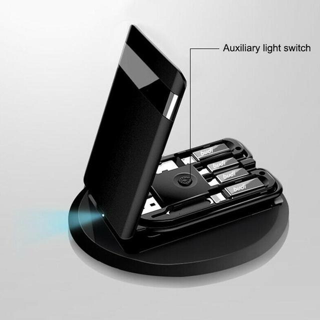 BUDI Multi-funzione Smart Card Adapter Cavo Di Dati di Archiviazione Box USB Caricabatterie Universale Senza Fili per il iPhone Xiaomi Huawei 5