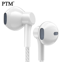 PTM P7 Stereo Bass Earphone Headphone with Microphone Wired Gaming Headset for Phones Samsung Xiaomi Iphone Apple ear phone