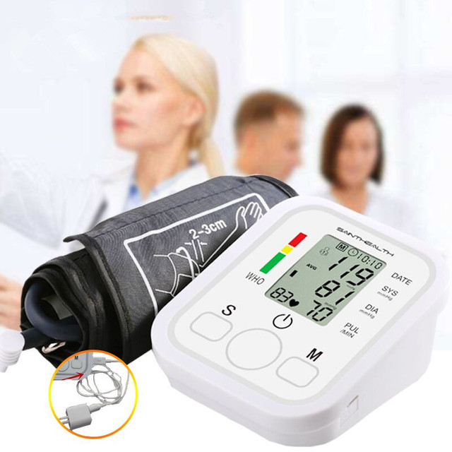 Drop Shipping Health Care Automatic Arm Blood Pressure Monitor Digital LCD Large Cuff Blood Pressure Meter Tonometer