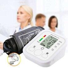 זרוק חינם בריאות אוטומטי זרוע לחץ דם צג הדיגיטלי LCD גדול שרוול מד לחץ דם Tonometer