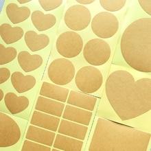 Чистая крафт-бумага стикер s, свадебные наклейки, конверт печать, пустой ярлык