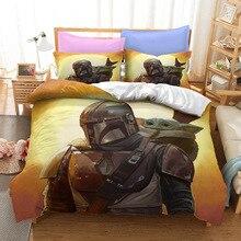 3D Star Wars Yoda Mandalorian Baby Bedding Set Disney Duvet Cover Comforter Lovely Children Boys Kids Queen King Size Bedclothes