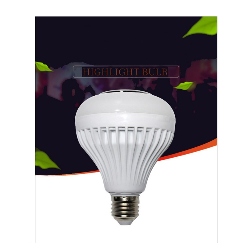 E27 LED Wireless Bluetooth Speaker 12W RGB Bulb LED Lamp RGB Memory Card