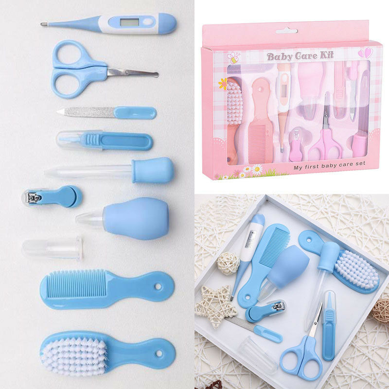 10pcs Set Newborn Baby Kids Nail Hair Health Care Thermometer Grooming Brush Kit