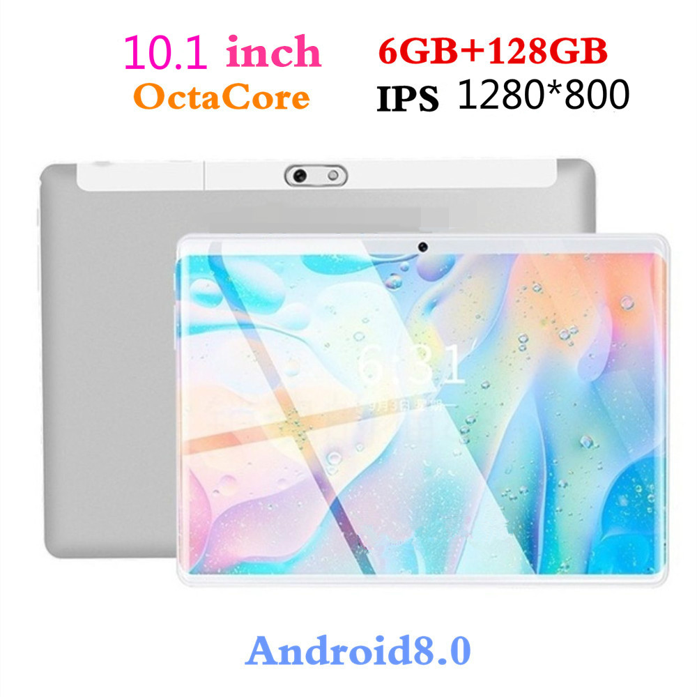 New 10.1 Inch Tablets 1280*800 For Android 8.0 4G Octa Core PC Tablets Resolving Power 8MP 5000mAh Office 6GB+128GB Kids Tablet