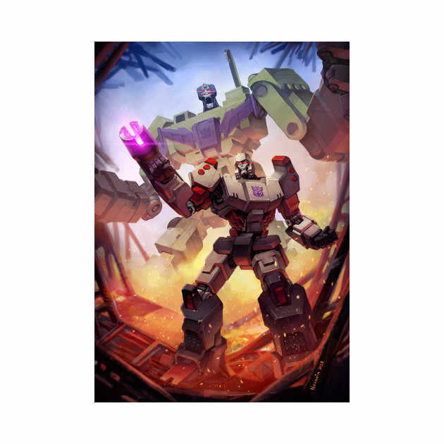 การ์ตูน Megatron สำหรับเด็กของเล่น DIY สติกเกอร์สติกเกอร์บุคลิกภาพ creative wall decal ตกแต่งบ้านกันน้ำ