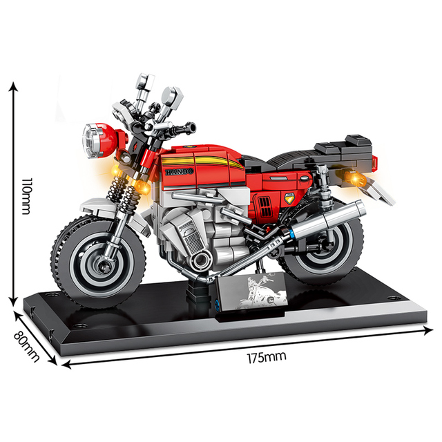 City Technic Off-road Motorbike Model Building Blocks Street Racing Motorcycle Car Assemble Bricks Education Toys For Children