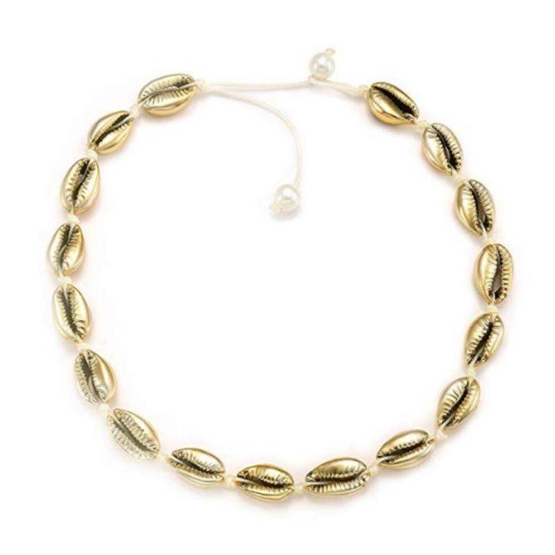 Экологически чистое ожерелье с искусственным жемчугом из натуральной раковины, модное простое ожерелье ручной работы для женщин и девочек,... - 2