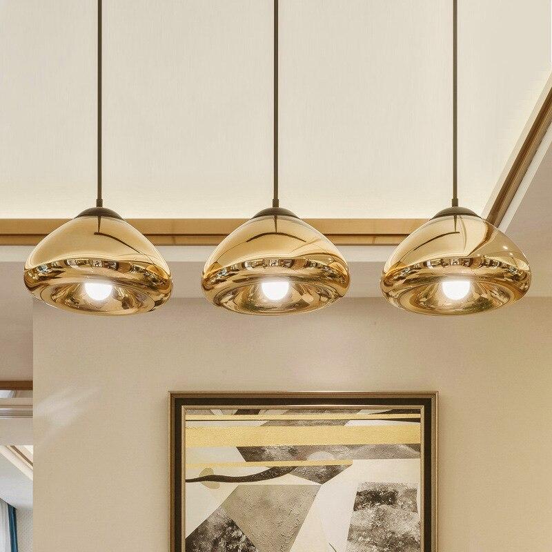 Nordic led стеклянные шаровые подвесные светильники современный