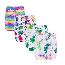 Druk cyfrowy wielokrotnego użytku pieluszki dziecięce zmywalne wodoodporne pieluchy dla niemowląt kieszonkowe dla noworodków ekologiczne okładki serii P