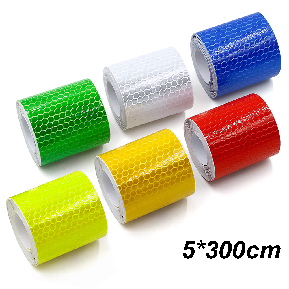 5cm*300cm Car Reflective Tape Decoration Stickers Car Warning Safety Reflection Tape Film Auto Reflector Sticker