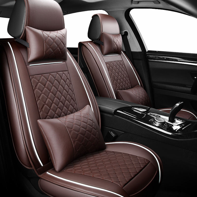 Front Rear Luxury Leather car seat cover 4 Season For toyota RAV4 2017 2013 CH