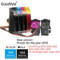 GraceMate 304 СНПЧ чернила для Hp 304 для зависти 5010 5020 5030 5032 5034 5052 5055 2620 2630 2632 принтеры