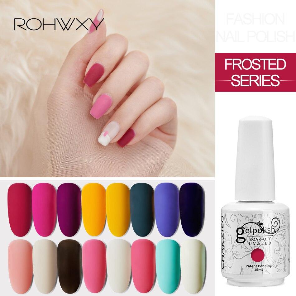 ROHWXY Гель-лак для ногтей 15 мл Гель-лак 100 цветов УФ-краска Гибридный лак для самостоятельного дизайна ногтей маникюр нужен матовый топ