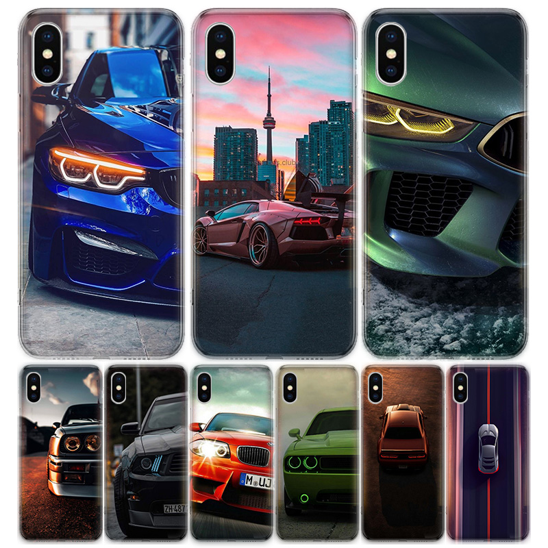 Blue white black For BMW For Apple iPhone 7 8 Plus 11 Pro 10 X XS XR 6 6S 5 5S SE 2020 Max Soft Clear Silicone TPU Phone Case C image