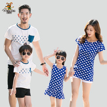 Mother Daughter Dress Family Look 2020 Summer Family Clothing Father Son T-Shirt Cotton Polka Dot Family Matching Outfits family look clothing 2020 summer mother daughter dress family matching outfits father son t shirt short pants clothes set