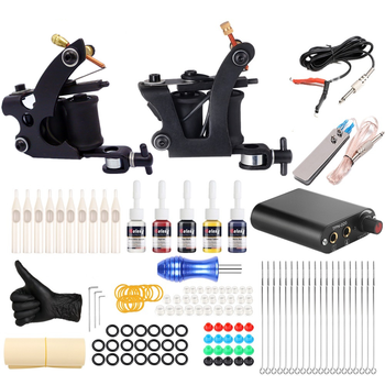 цена на Coil Tattoo Machine Set Professional Tattoo Machine Coil Machine Tattoo Set Full Set Of Tattoo Equipment