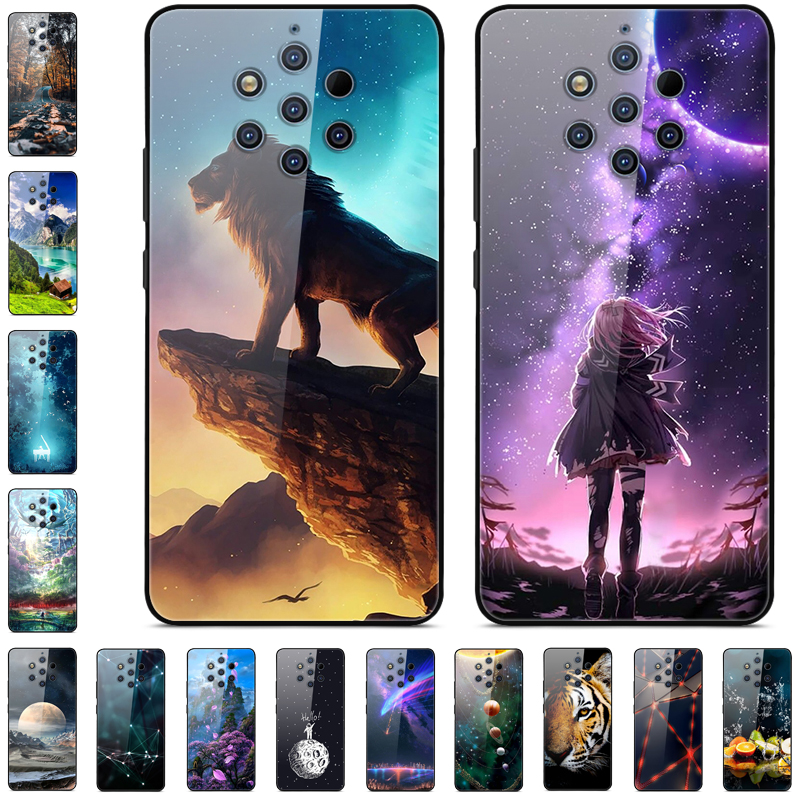 Case For Nokia 9 PureView Case Tempered Glass Back Cover For Nokia 9 Pure View Phone Case Soft Bumper For Nokia 9 PureView