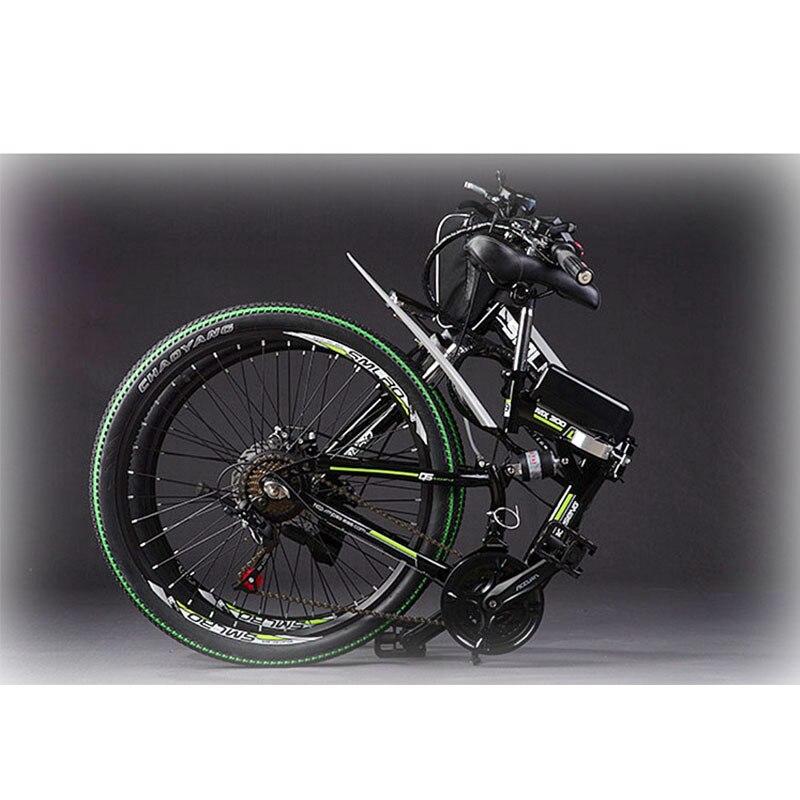 Canvas Battery Bag e bike 26 inch 350W Lithium Battery   Folding  Electric Bicycle E Bike 5