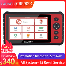 LAUNCH X431 CRP909C OBD2 Scanner Professional OBD 2 Car Diagnostic Scanner Airbag SAS TPMS IMMO Reset OBD Code Reader LAUNCH ODB